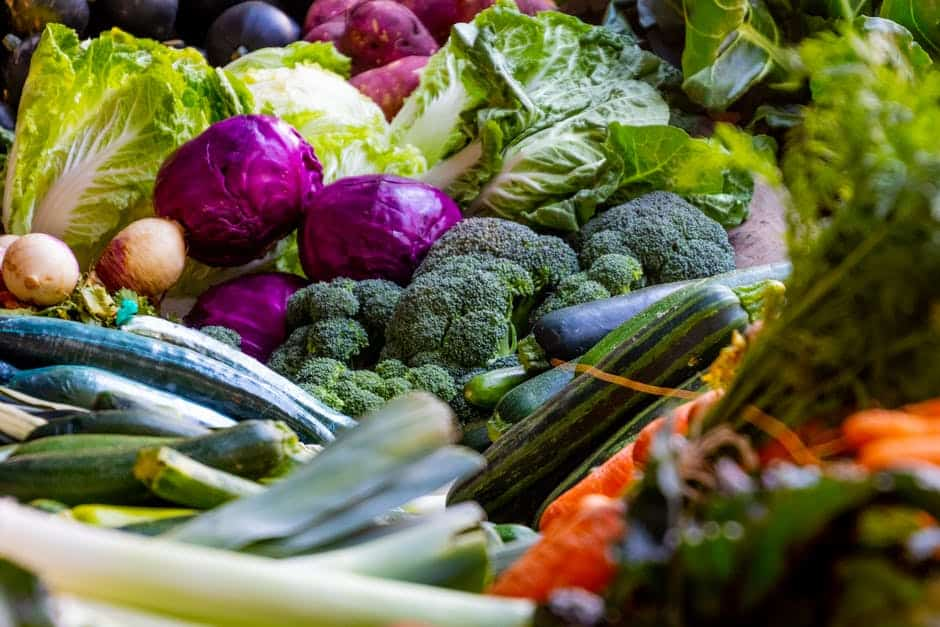 A close up of many different types of vegetables